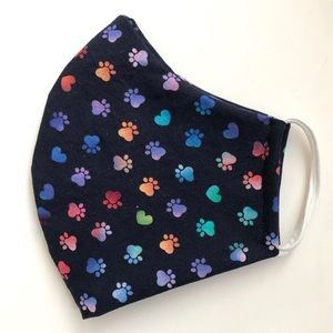 Accessories - 25% OFF 2/More Paw & Heart Face Mask OSFM Cotton
